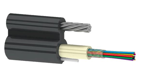 utex, ютекс, Подвесной оптический кабель формы 8 ОКП8(2,7)Т (2.7 кН) | Кабель волоконно-оптический внешний, многомодульной конструкции, самонесущий, со стальным тросом