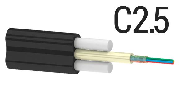 Utex, Ютекс, Подвесной оптический плоский кабель ОКП(С2.5)ПТ (2.5 кН) | Кабель подвес | Подвесной кабель на 2.5 кН