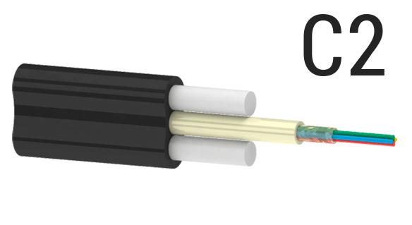 Подвесной оптический плоский кабель ОКП(С2)ПТ (2.0 кН) | Подвесной кабель на 2 кН | Плоский кабель на 2,0 кН