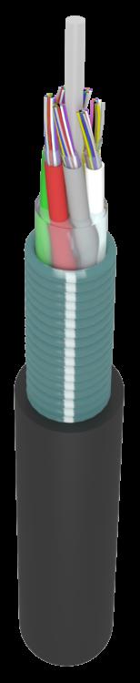 Оптический бронированный подземный кабель ОКЗ(б2.7)M 2.7 кН. 4-96 волокон. Многомодульный, внутридомовой, грунт, канализация, подвес, тунелли.